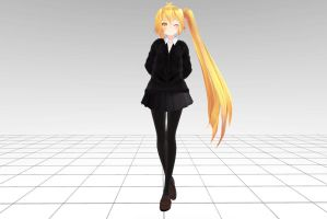 MMD Tda Neru JK School Download !! by InoriAruma
