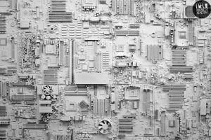 Circuit Board City by deepkitsch