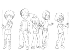 WIP - Code Lyoko card for a friend by Runya-Isamu