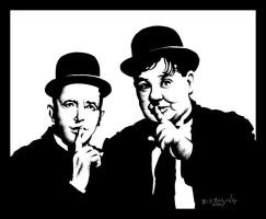 Laurel and Hardy by ATLbladerunner