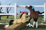 [Foal Jumping] Fail... by Opium5