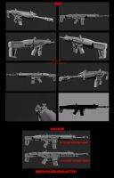 Contention: UNMC HP-45A1/ SCAR-H mashup WIP by Malcontent1692