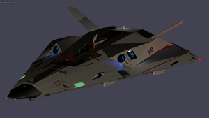 Space Fighter WIP by Yachieku