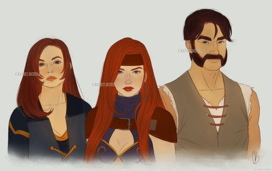 Maiaela, Aeyva and Alec (COMMISSION) by CelticBotan