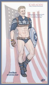 Steve Rogers Not So Stealth Suit by karadin