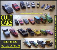 Cult Cars - Series 1 - 4 by mikedaws