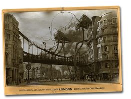 Vintage Postcard London Attacked War of the Worlds by yereverluvinuncleber