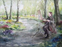 Painting in Spring by adrymeijer