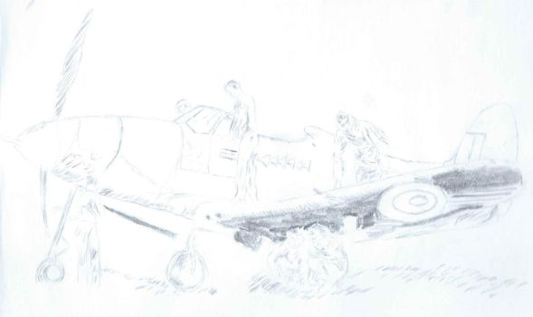P-39 Bell Airacobra on ground with British by irate-velociraptor