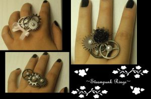 Steampunk Rings by AyeAvast