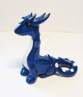 Sapphire Blue Dragon by FrozenNote