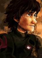 Attempt at painting Hiccup! by Dreamsoffools