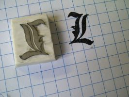 L - Rubber Stamp by dunkleLamm