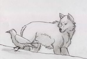 WOLF and RAVEN by wolf-lion