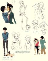 Mortal Instruments sketchdump by ph34rthecuteones