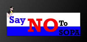Say No to SOPA by Lexoz