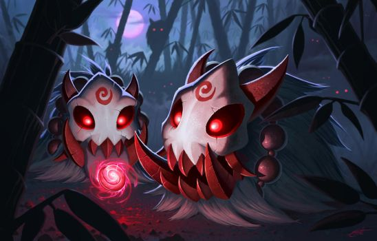 LoL Poro contest: Bloodmoon poro by Shockowaffel
