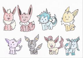 8 little Chibis by sammyslion