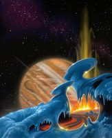 Fire and Ice by AlanGutierrezArt