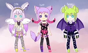 { spooky pastel goth batch } { 1 / 3 OPEN } by hello-planet-chan