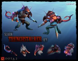 DOTA 2 Slark Trenchstalker set by haikai13