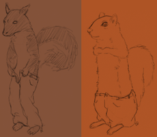 Squirrels in pants by Alisha-town
