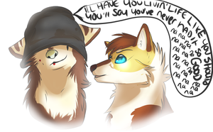 I stole your hat. by pandadoge