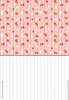 Pink Strawberries Lucky Paper Stars paper by Heisotsu