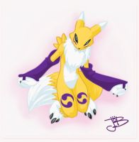 Renamon_pose_Color by gurudJ
