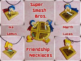 Super Smash Bros - Medal Friendship Necklaces by YellerCrakka
