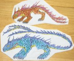 Red and Blue Manticore by Seitira