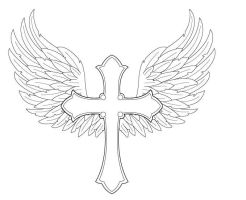 Angel Wings with Cross by FightTheAssimilation
