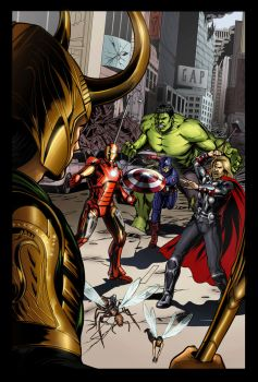 Avengers #1 Tribute Cover Colored by smlshin