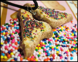 Fairy Bread Necklace by GrandmaThunderpants