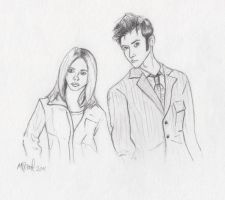 Rose and The Doctor Sketch by ichabod1799