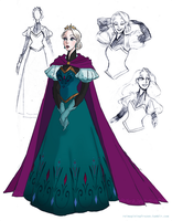 Elsa's coronation gown: final design by kemiobsesses