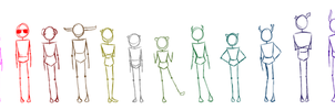 Homestuck Height Chart WIP by SuPeR--nErD