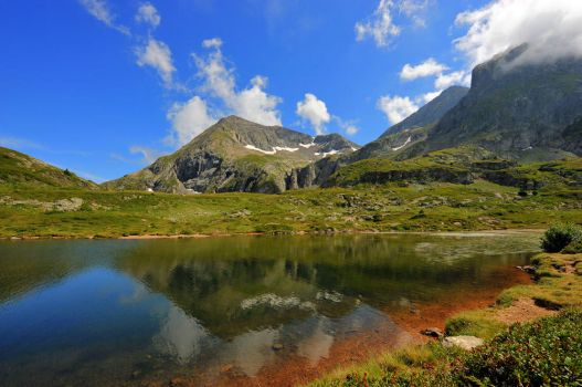 French Alps - Lac Fourchu HDR by verolive