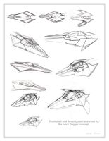 Dagger Design Process by Ihlecreations