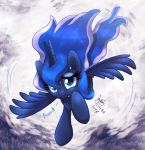 MLP FIM - Scared Little Luna Fly Crash by Joakaha