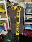 Knitted Police Tape Scarf by NeitherSparky