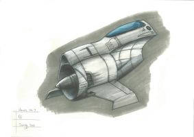 Hawk EC-7 Concept Ship Sketch by SARGY001