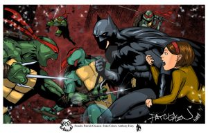 UPDATED Batman vs TMNT Gleason ANMPH by Anmph