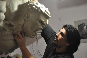 hulk 1.1 scale bust by zoko1