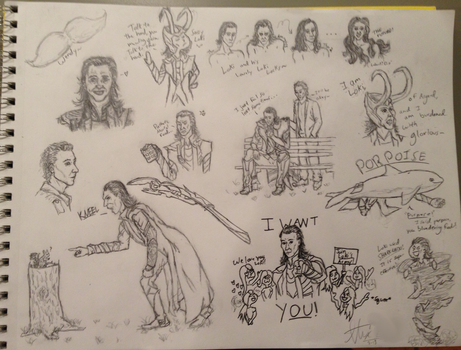 12 Lokis, 2 Hiddles, and a Porpoise in a Pear Tree by Thunder-Star