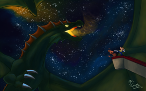 January: Close Encounters With the Dragon Kind by EarthGwee