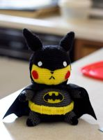 Pikachu Batman Amigurumi Doll by Sushumo