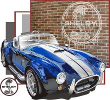 shelby cobra by mobleyart