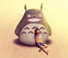 My own Totoro by LoreCoffee