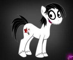 Jeff the Killer Pony by Artizluv